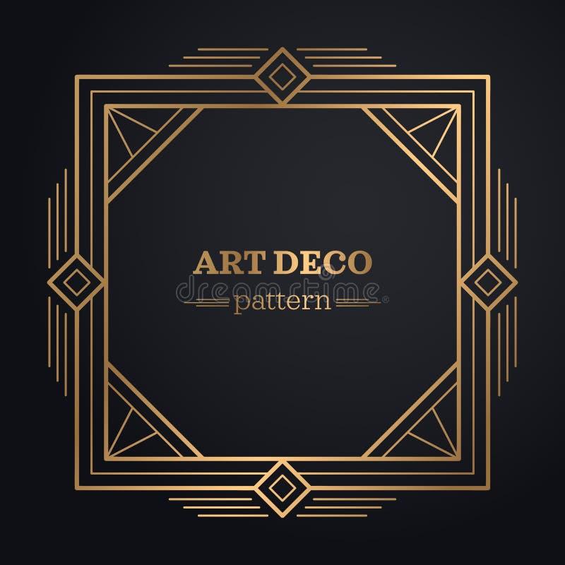 Art Deco obramia tło ilustracji