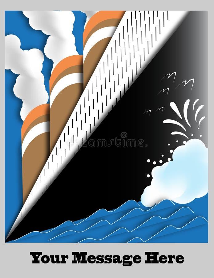 Art Deco Ocean Liner Poster con el espacio para el texto libre illustration