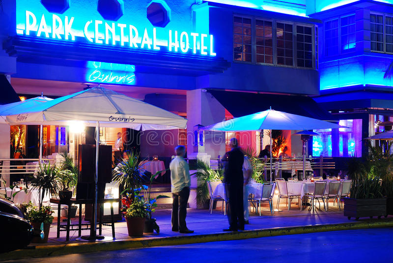 Art Deco Park Central Hotel in Miami Beach fotografia stock libera da diritti