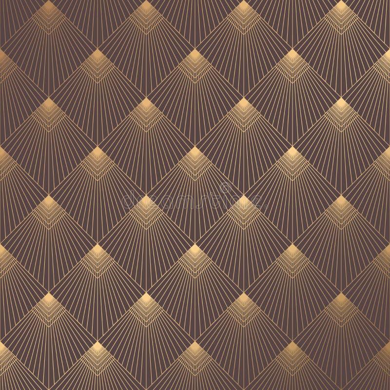 Art Deco Pattern stock vector. Illustration of diagonal - 112421246