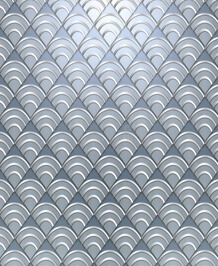 Art Deco Pattern Background. Rich, luxurious background styled after the Art Deco period done in metallic tones royalty free stock images