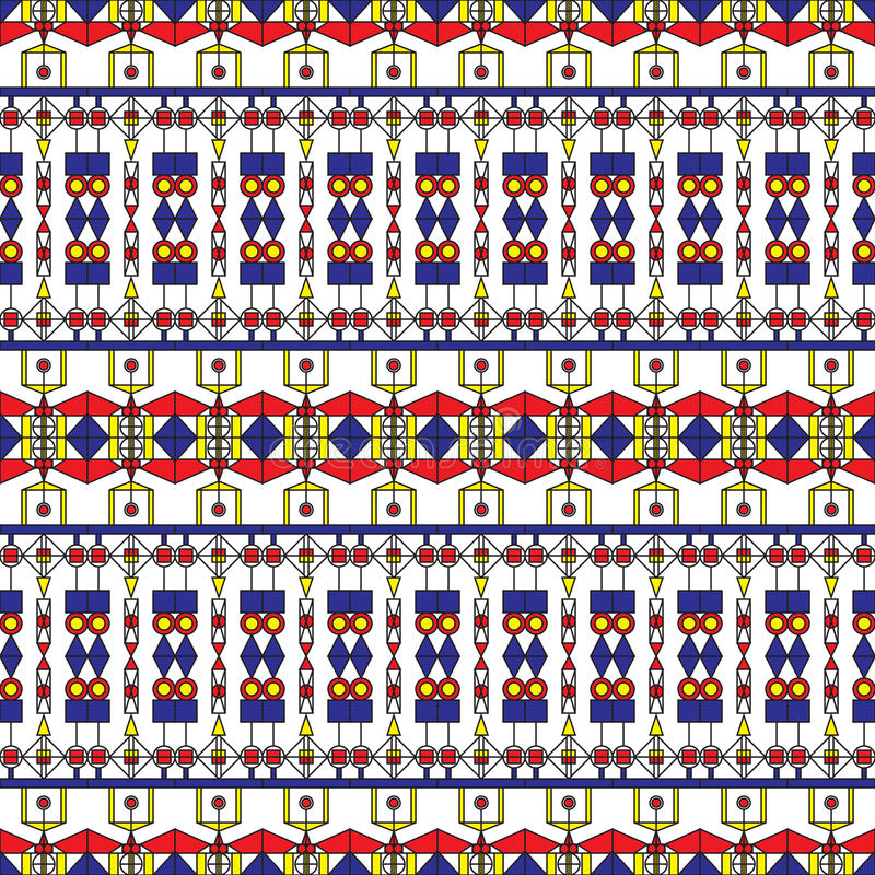Art Deco Pattern senza cuciture illustrazione di stock