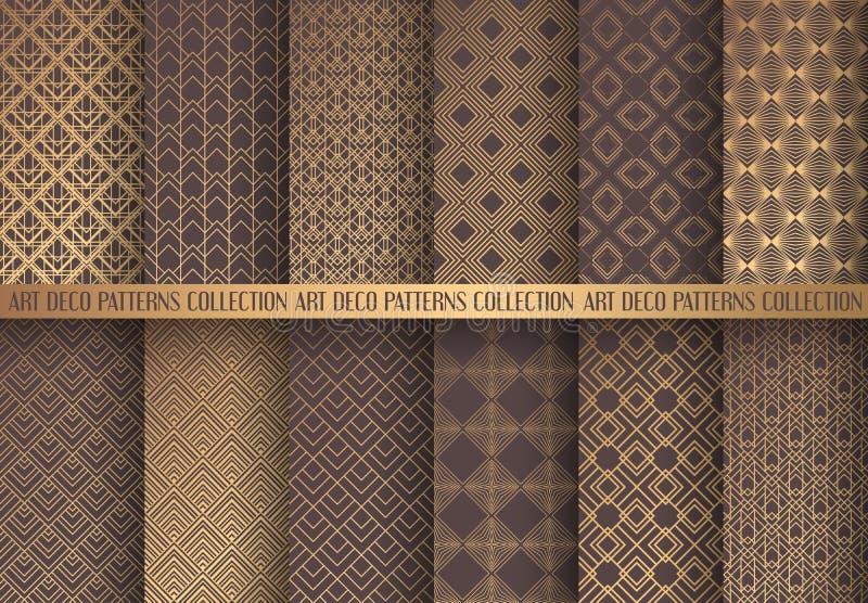 Art Deco Patterns Set royalty free illustration
