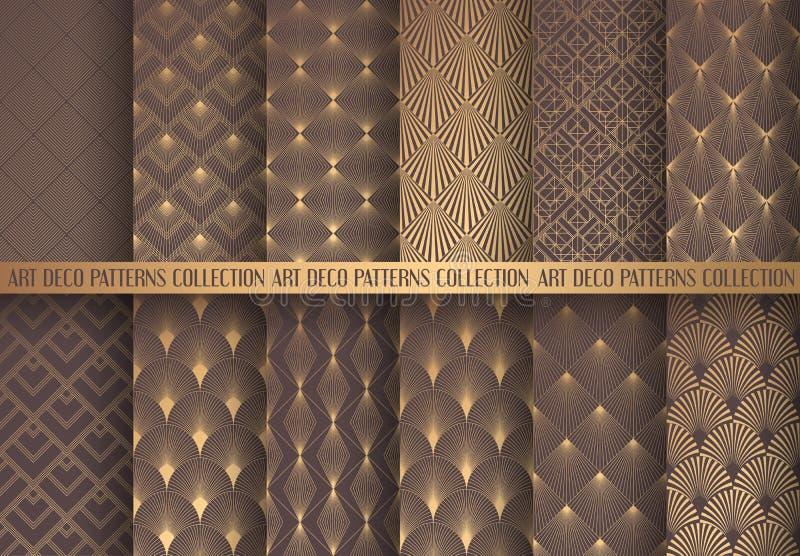 Art Deco Patterns Set vector illustration