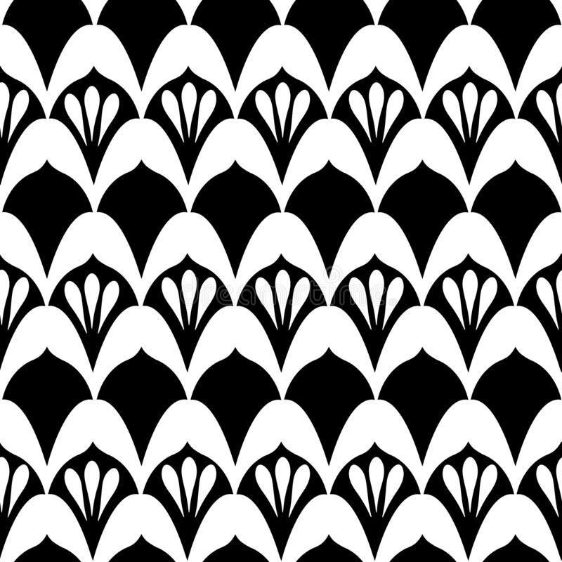 Free Art Deco Print In Black & White Stock Photos - 141800933