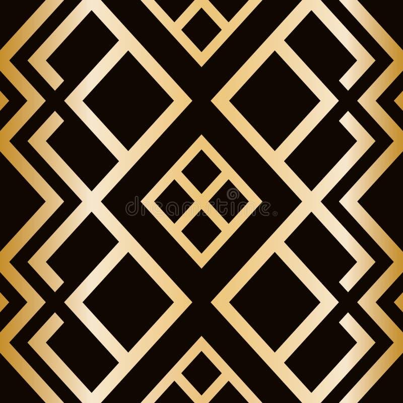 Art Deco projektuje bezszwowego wzór abstrakcjonistyczna geometryczna tekstura royalty ilustracja