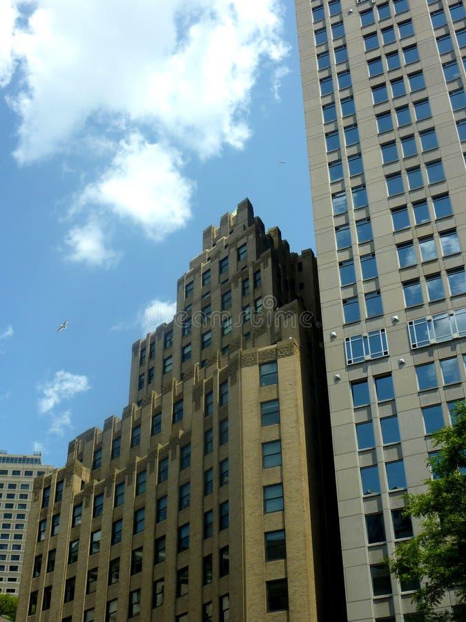 Art Deco projektuje budynek w Boston Massachusetts obrazy royalty free