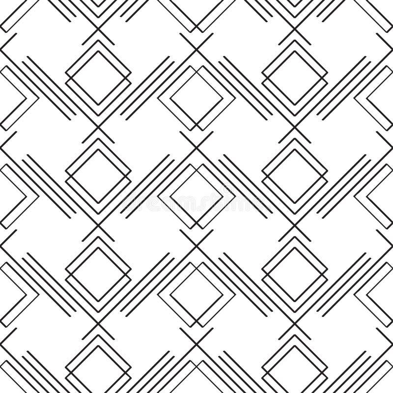 Art Deco prosty liniowy bezszwowy wzór royalty ilustracja