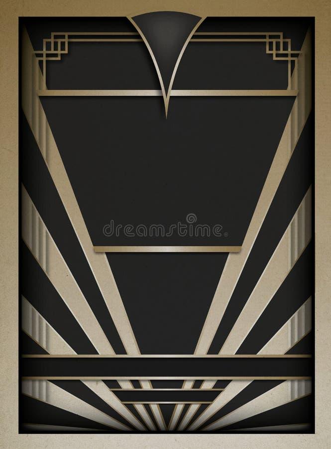 Art Deco rama i tło royalty ilustracja