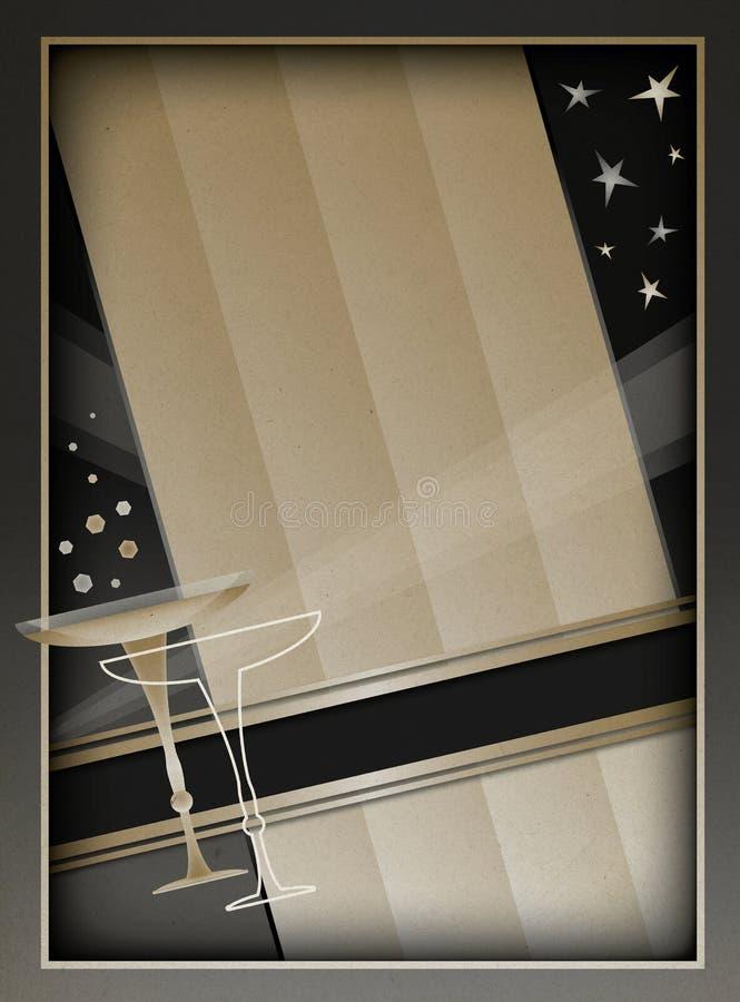 Art Deco rama i tło ilustracja wektor