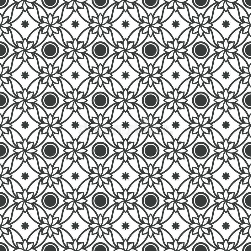 Art Deco Seamless Pattern Decorative-Hintergrund lizenzfreie abbildung