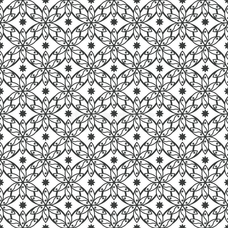 Art Deco Seamless Pattern Decorative-Hintergrund stock abbildung