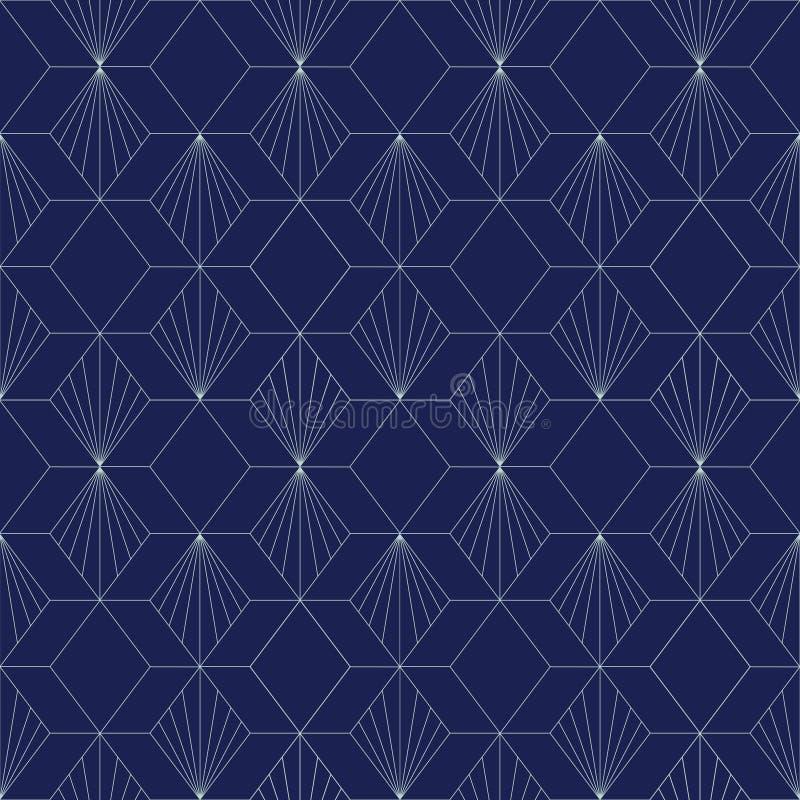 Art Deco Seamless Pattern, fondo geométrico para el diseño, cubierta, materia textil, papel pintado, decoración stock de ilustración