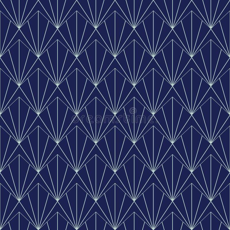Art Deco Seamless Pattern, geometrischer Hintergrund für Design, Abdeckung, Gewebe, Tapete, Dekoration stock abbildung