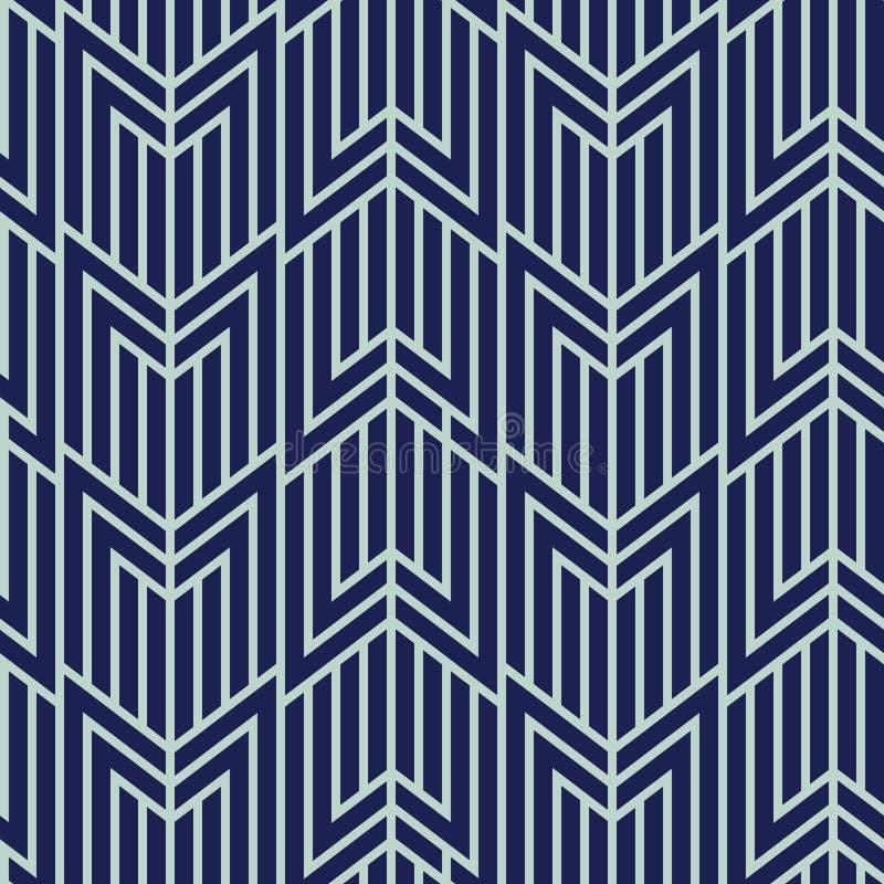 Art Deco Seamless Pattern, Geometrischer Hintergrund Für Design ...