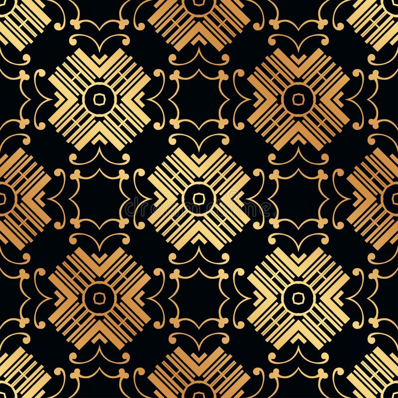 Art Deco Seamless Pattern. Vintage Art Deco Seamless Pattern. Geometric decorative texture stock photo