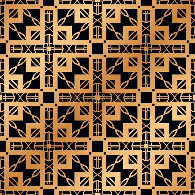 Art Deco Seamless Pattern. Vintage Art Deco Seamless Pattern. Geometric decorative texture royalty free stock image