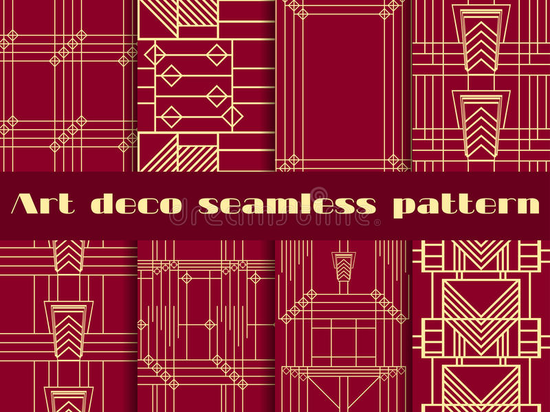 Art deco seamless patterns. Art deco geometric seamless pattern. vector illustration