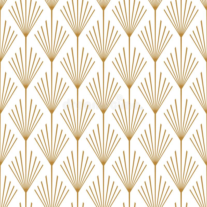 Art Deco Seamless Vector Pattern Copper royalty free stock photo