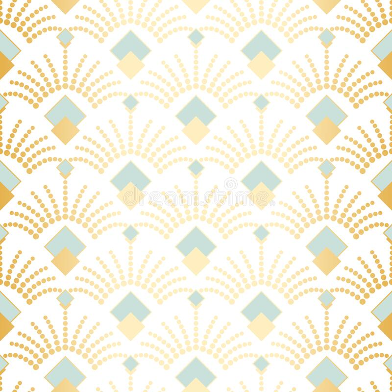 Free Art Deco Seamless Vector Pattern.Vintage Geometric Gold Gatsby Texture Background, 20s And 30s Trendy Pattern Royalty Free Stock Photos - 171204668