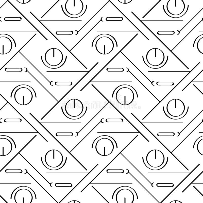 Art deco simple linear seamless pattern vector illustration