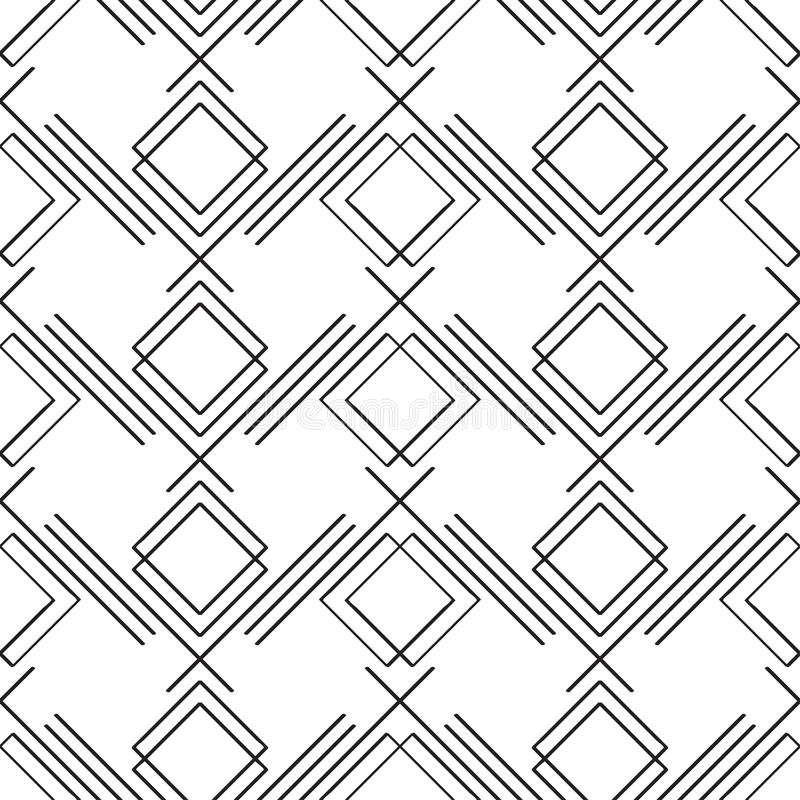Art deco simple linear seamless pattern royalty free illustration
