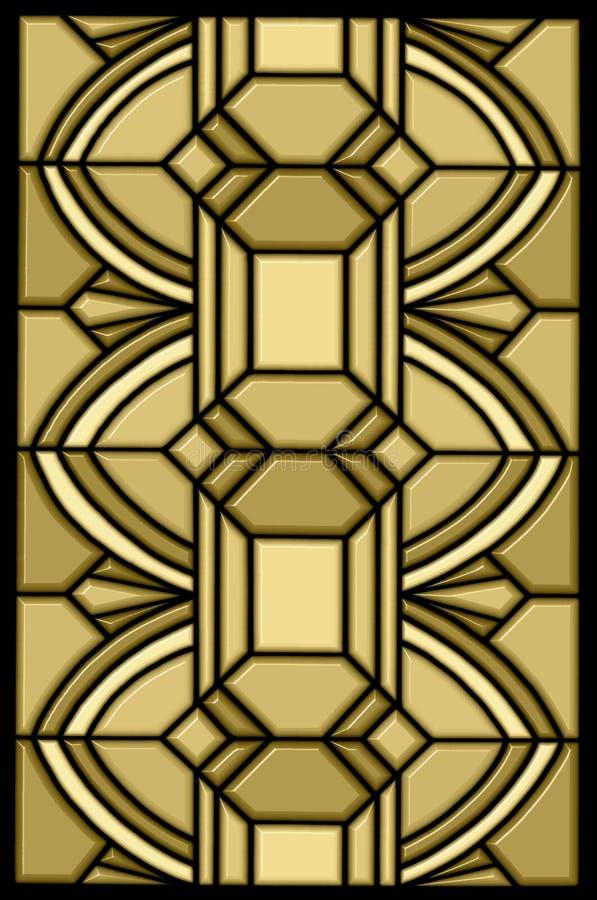 Art deco stain glass design stock illustration