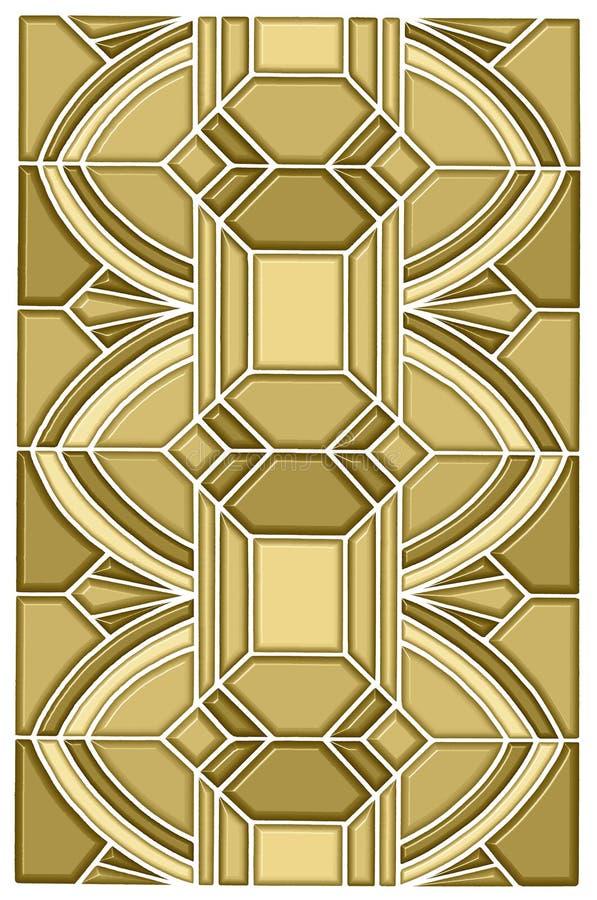 Art deco stain glass design vector illustration