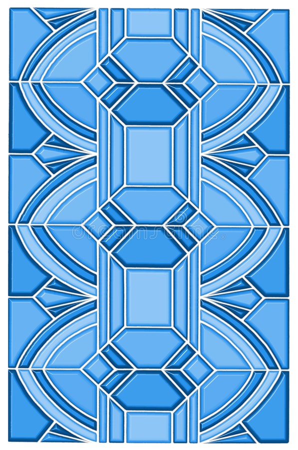 Art Deco Stain Glass Design Stock Photography