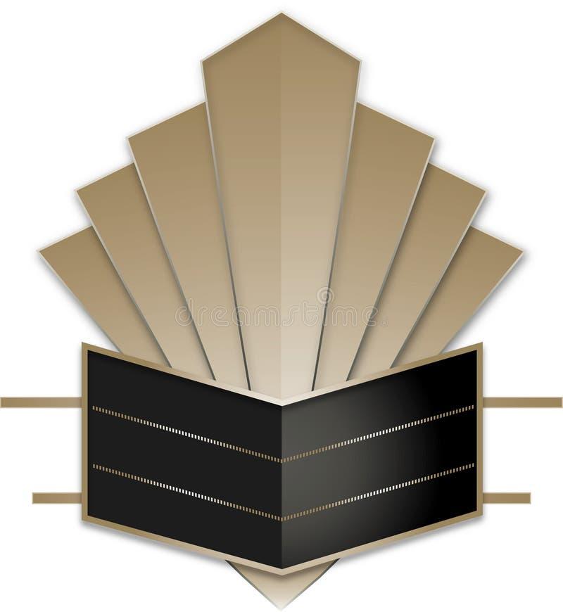Art Deco Stye Badge lizenzfreie abbildung