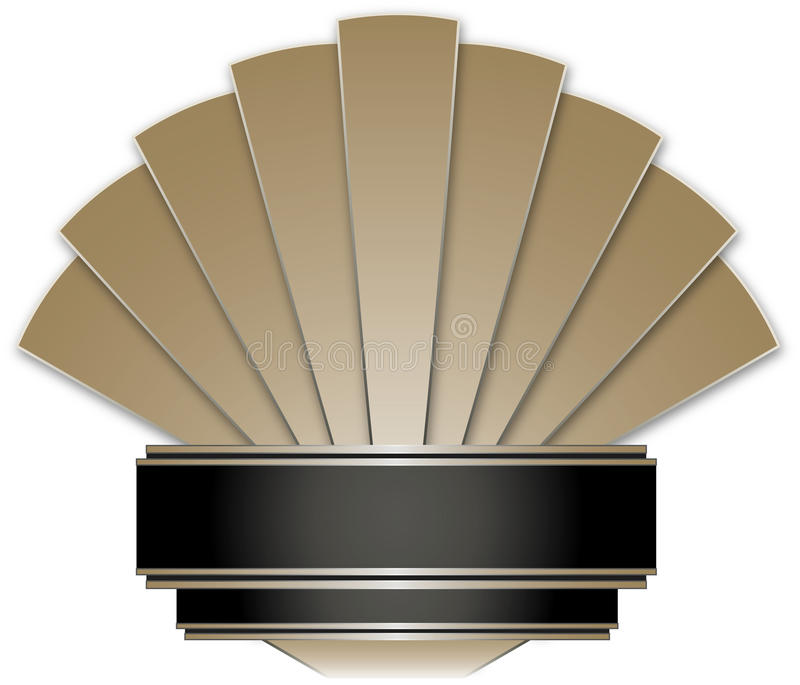 Art Deco Stye Badge stock de ilustración
