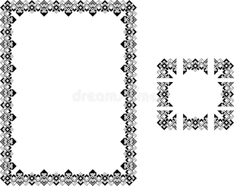 Download Art Deco Style Border Frame Stock Vector - Illustration of line, aspect: 3776834