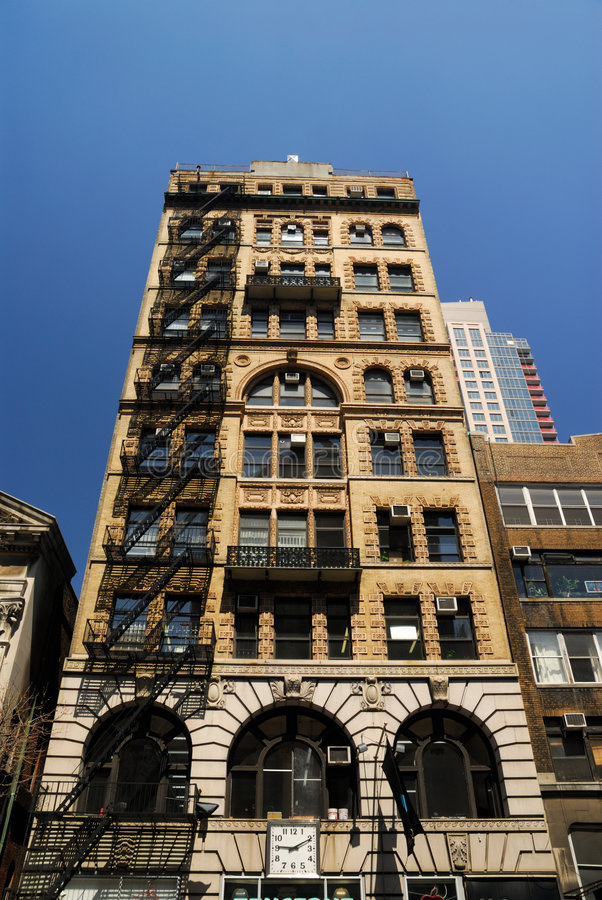 Art Deco Style Building In New York Stock Image - Image of facade ...
