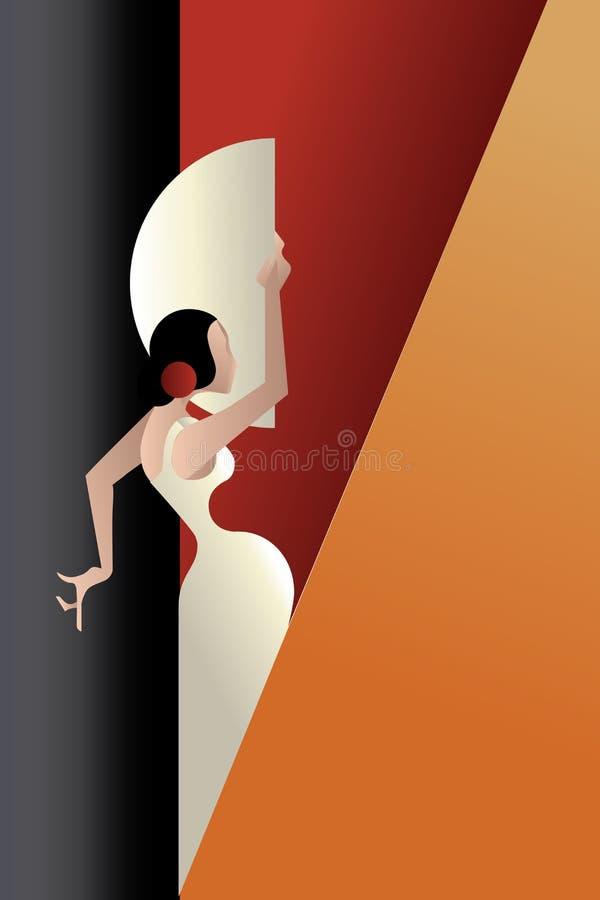 Free Art Deco Styled Spain Flamenco Dancer Stock Photos - 53939563