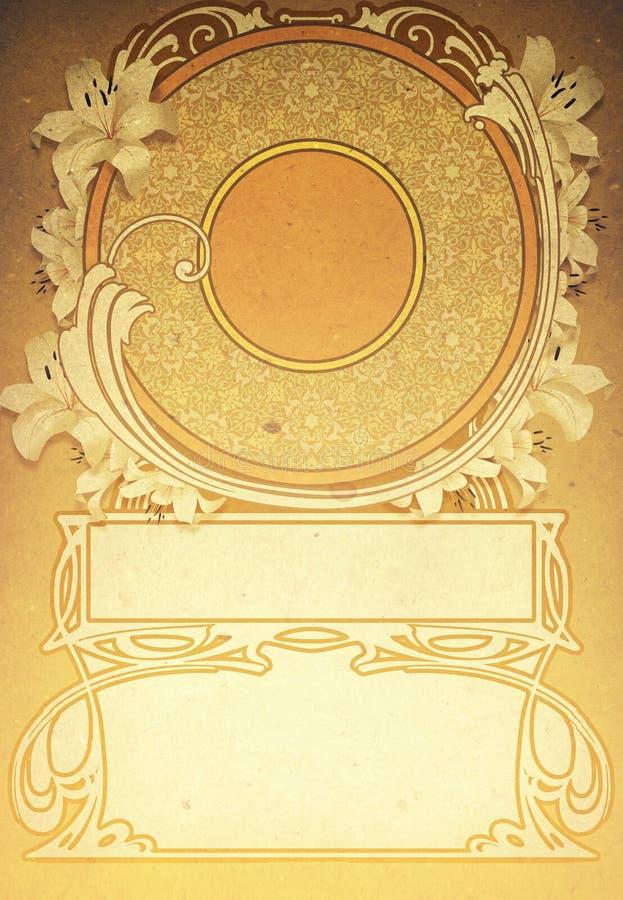 Art Deco tło zdjęcia stock