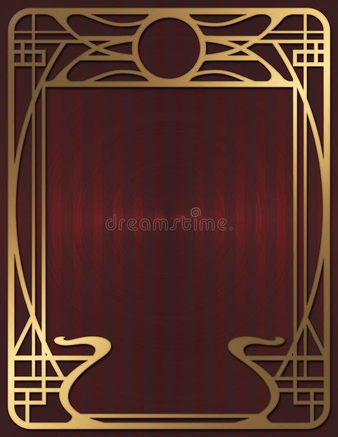 Art Deco tło ilustracja wektor