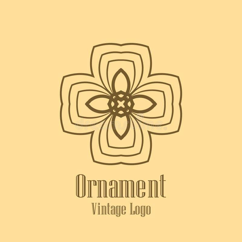 Art Deco tappninglogo royaltyfri illustrationer