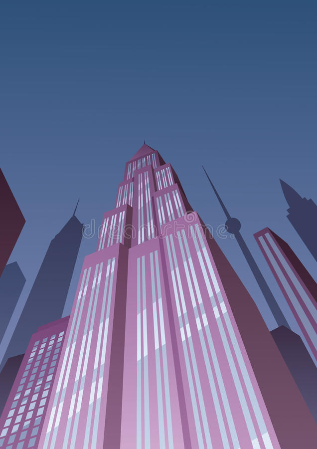 Art Deco Tower 2 stock illustratie