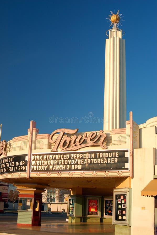 Art Deco Tower Theater historique à Fresno, la Californie photo libre de droits