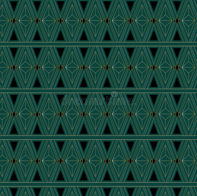 Art Deco Triangle Pattern libre illustration