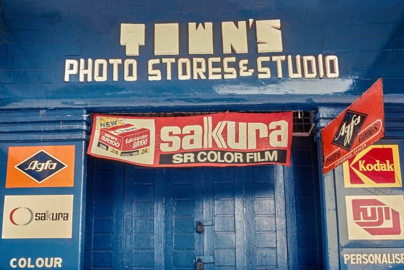 Art Deco typografii analogowej fotografii prowiantowy studio przy Mumbai maharashtra obraz stock