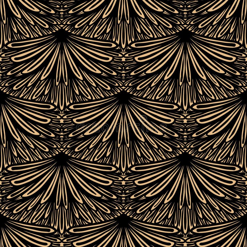 Art Deco Vector Floral Pattern Stock Photo Image 36183540