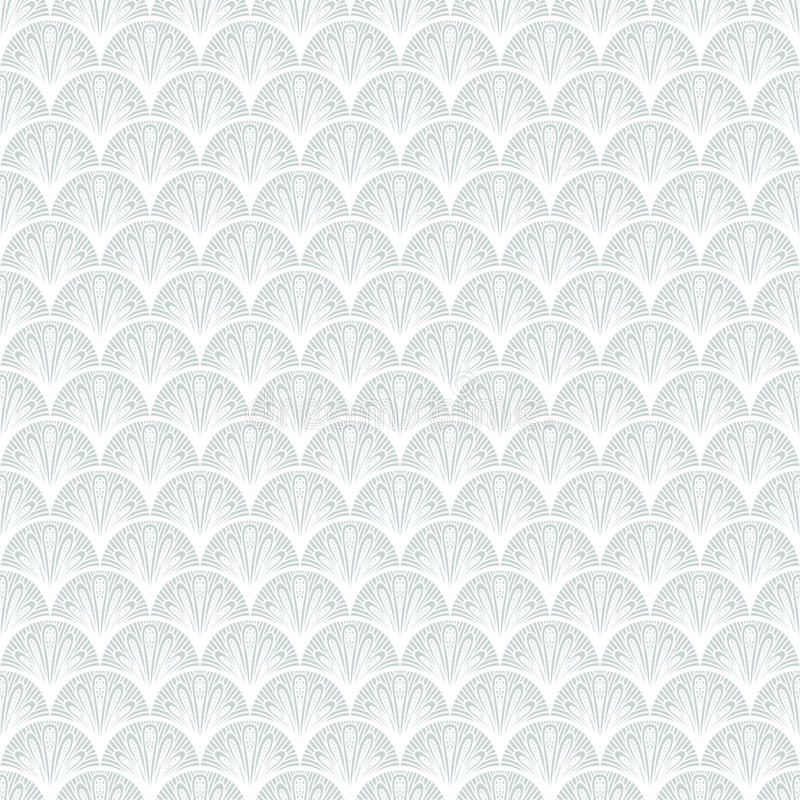 Free Art Deco Vector Geometric Pattern In Silver White. Royalty Free Stock Photo - 36184605