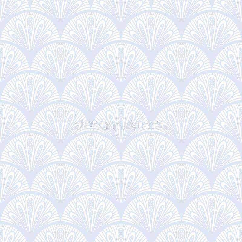 Art deco vector geometrisch patroon in zilveren wit. royalty-vrije illustratie