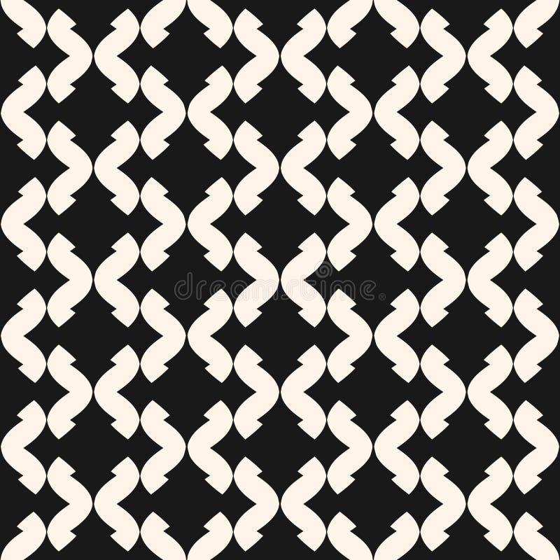 Art deco vector naadloos patroon Zwart-wit geometrische textuur royalty-vrije illustratie