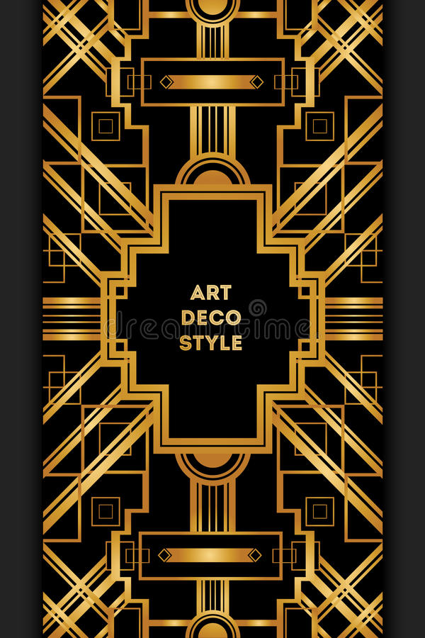 art deco vintage decorative frame retro card design template stock vector illustration of. Black Bedroom Furniture Sets. Home Design Ideas