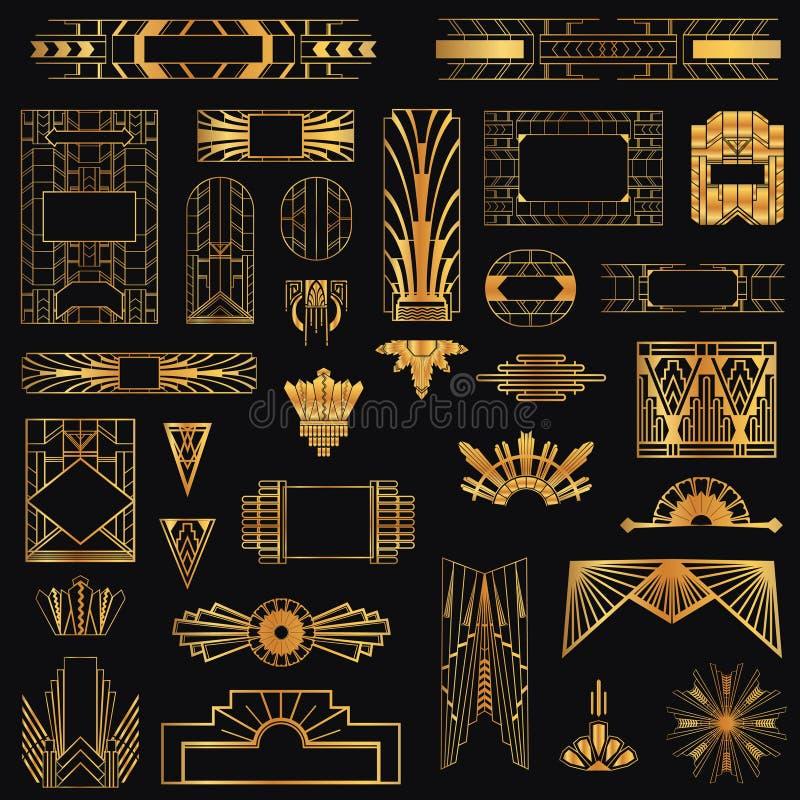 Art Deco Vintage Frames ilustración del vector