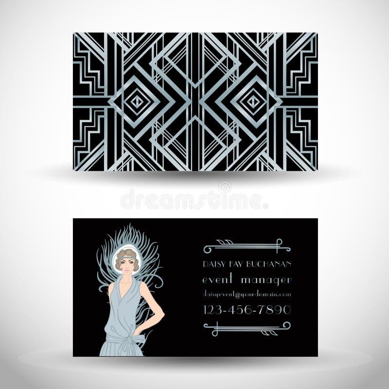 Art Deco Vintage Invitation Template Design. Patterns And Frames ...