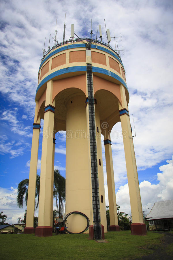 Art Deco water tower stock photography