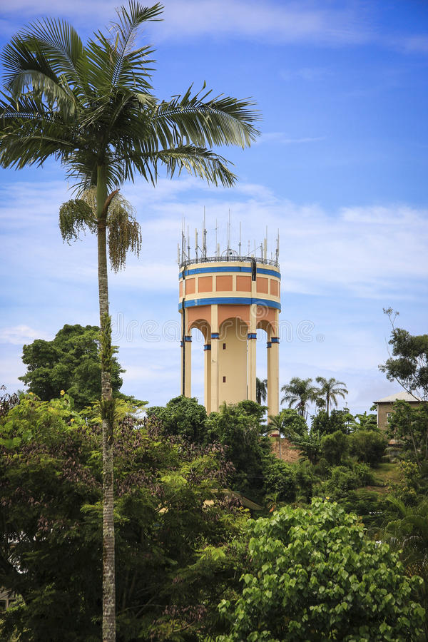 Art Deco water tower royalty free stock photography